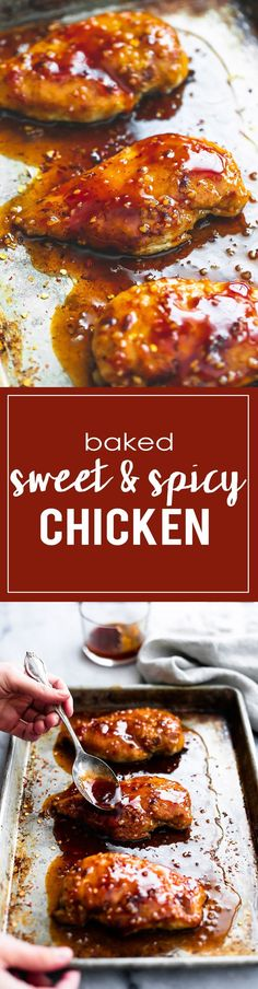 30 Minute Baked Sweet & Spicy Chicken | Creme de la Crumb