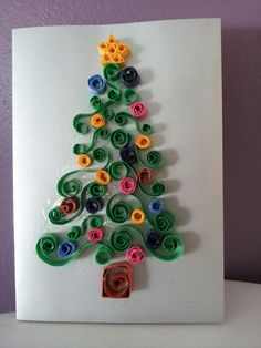 Carte de Noël. Quilling. Noël 2014. | Holiday decor, Decor, Holiday