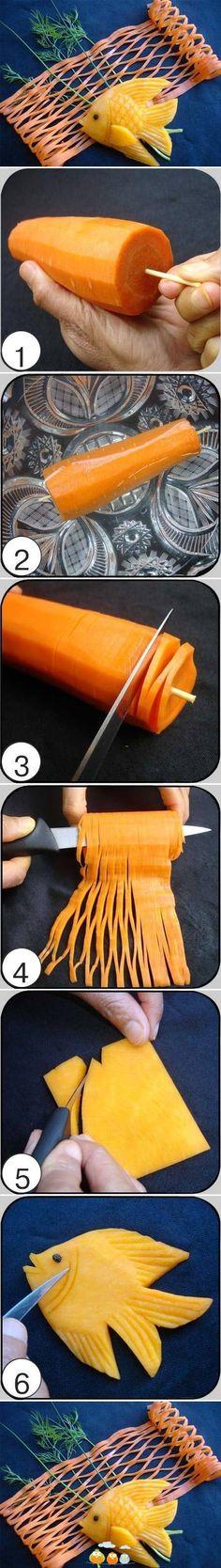 Das passiert, wenn du eine Karotte SO schneidest. Schade, habe ich das nicht…