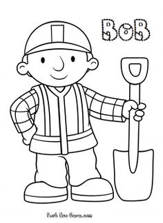 Free Print out Bob the Builder Coloring in Pages for kids