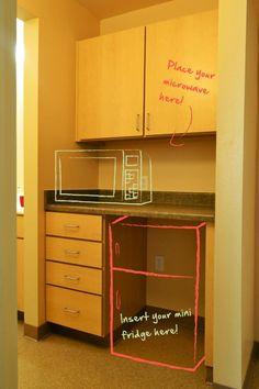 Dorm Room Organizer Mini Fridge Microwave Cabinet Storage