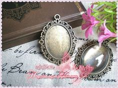 10pcs Antique Bronze Lace Cameo Base Setting  Fits by ministore, $3.45