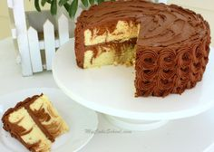 Moist and Delicious Homemade Marble Cake Recipe from Scratch! MyCakeSchool.com.