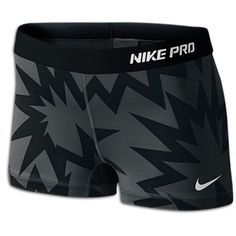 Nike Pro Women's Compression Shorts Black Pattern