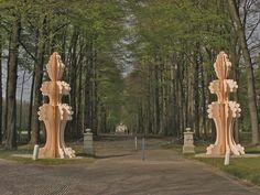 13W Cardboard Sculptures by Ferry Staverman.