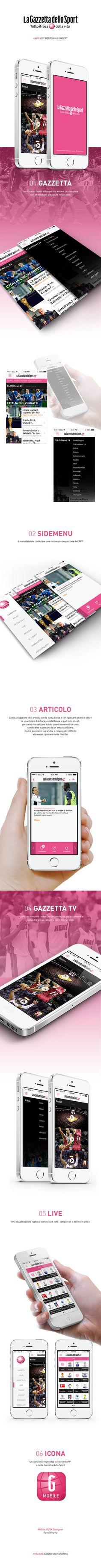 Gazzetta Mobile App, iOS7 Redesign Concept, by Fabio Murru, via Behance