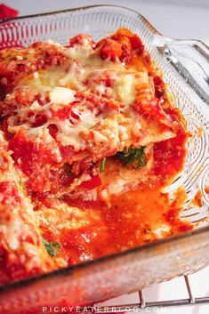 Have you been searching for a satisfying vegetable lasagna? This super satisfying veggie lasagna is a hearty, healthy version of the classic Italian recipe. Made with whole wheat noodles, fresh herbs, packed with veggies and a mixture of cheeses, this is a one dish meal that will soon become a favorite among your family and friends. #healthy #recipe #vegetarian
