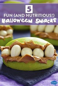 Looking for Halloween snacks that aren't chockfull of sugar? Check out these adorable and nutritious Halloween treats for kids! Healthy Eating For Kids, Healthy Snacks For Kids, Yummy Snacks, Fall Recipes, Baby Food Recipes, Finger Foods For Kids, Halloween Snacks For Kids, Organic Snacks, Snacks Für Party