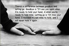 Letting go is not easy. There's always the urge to run back or to hold on. Loving is not easy either. When you love someone, you love them, rain or sunshine. And sometimes you have to let go because you love so much. Moving on is not easy. Even when it's the only option. Loving is not easy either.
