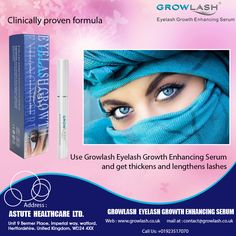 Use Growlash #Eyelash Growth Enhancing #Serum and get thickens and lengthens #lashes.