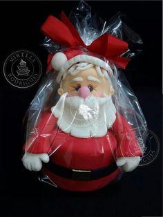 Mini bolo Papai Noel by Mirella Rodrigues