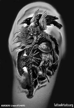 tribal dragon tattoo Viking Warrior Born In December Thor Tattoo, Alien Tattoo, Norse Tattoo, Warrior Tattoos, Badass Tattoos, Body Art Tattoos, Tattoos For Guys, Angel Warrior Tattoo, Aztec Tattoo Designs