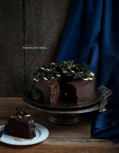 Chocolate #Cake with Kale & #Almonds 15 Super Sweet Desserts   Yummy #Recipes