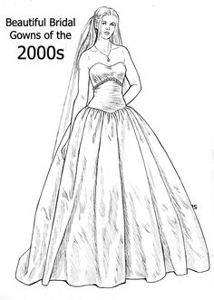 20 Beautiful Bridal Gown Series Ideas Doll Sets Colouring Pages Coloring Books