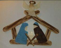 Craft Stick Nativity   AllFreeChristmasCrafts.com