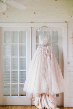 Blush, A-Line Allure wedding dress