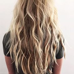 Beach wave hair days. Styled by @kristin_ess #hair #hairenvy #hairstyles…