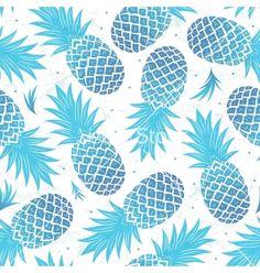 Vintage pineapple seamless vector on VectorStock