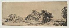 Landscape with a Road Beside a Canal. Artist: Rembrandt (Rembrandt van Rijn) (Dutch, Leiden 1606–1669 Amsterdam) Date: ca. 1652. Medium: Drypoint