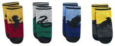 - 4er-Set Socken mit den vier Schulhäuser-Designs - Einheitsgröße (entspricht ca. den Größen 39 bis 42)