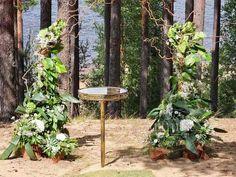 Свадебная арка в лесном стиле | Выездная регистрация на природе