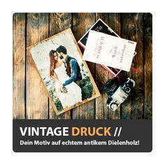 Foto auf Vintageholz Fotodruck