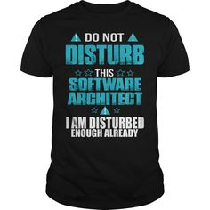 769ea1191e0f Do Not Disturb This Software Architect I Am Disturbed Enough Already T-Shirt,  Hoodie
