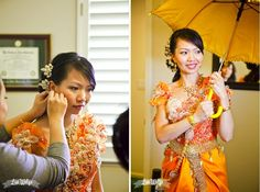 Cambodian Wedding outfit