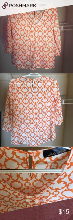 Francesca's - Bright top! Super cute top ! Made in USA ! 100% polyester! I bought this at Francesca's, it's by the brand blue rain. Francesca's Collections Tops Blouses