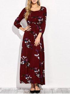 GET $50 NOW   Join RoseGal: Get YOUR $50 NOW!http://m.rosegal.com/maxi-dresses/floral-elastic-waist-maxi-dress-907721.html?seid=7914158rg907721