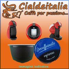 Caffe' CialdeItalia Capsule compatibili Nescafe' Dolce Gusto Caffe' Cialdeitalia DECAFFEINATO – 16pz a soli 2,73€