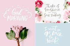Morning Lettering Set - Illustrations