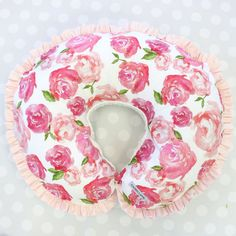 Harlow's Floral Floral Pink Blush Pastel Sweet by CadenLaneGifts Boppy Pillow Cover, Nursing Pillow Cover, Pillow Covers, Baby Painting, Girl Nursery, Nursery Ideas, Floral Nursery, Pink Bedding, Watercolor Rose