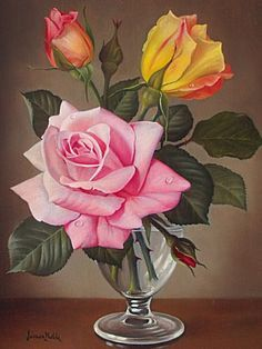 "by Mikhail Vedernikov - Original pastel drawing ""James Noble Roses"" ___________________________________________ A copy of the artist James Nobel _________________________________. Art Floral, Oil Painting Flowers, Watercolor Paintings, Still Life Flowers, Acrylic Paint Set, Pastel Drawing, Drawing Flowers, Rose Art, Yellow Roses"