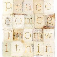 'peace comes from within' original artwork by Sophie Klerk