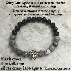 Yoga Meditation. Healing Spiritual Mala. Bead Bracelet. - BE BOLD: Black Onyx •…