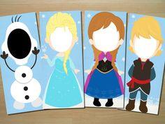 Frozen Photo Booth Prop Elsa Anna Olaf por SquigglesDesigns en Etsy