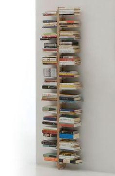 Le Zie di Milano/Zia Bice wall bookcase H - Natural/Lovepromo Rustic Bookcase, Modern Bookshelf, Floating Bookshelves, Bookshelves In Bedroom, Bookshelf Design, Diy Wood Desk, Casa Milano, Diy Hanging Planter, Bois Diy