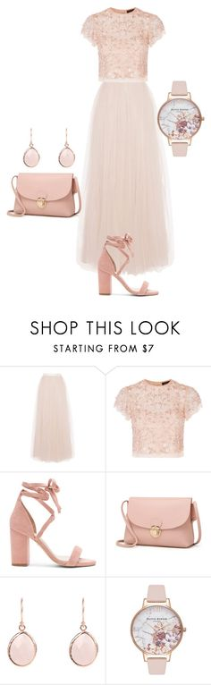 """Rose Blush"" by faeriesquall ❤ liked on Polyvore featuring Coast, Needle & Thread, Raye and Olivia Burton"