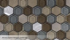 Mosaico Fushion Hexagon Caramel Mix L'Antic Colonial Porcelanosa-1