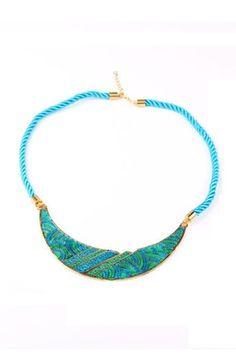 Vintage Necklace with Colored Glaze Crescent Pendant [FTBJ00246]- US$ 4.99 - PersunMall.com