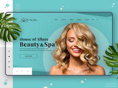The Beauty Salon Landing page Web UI by Sujith_Creativebird on Dribbble Website Design Layout, Website Design Inspiration, Spa Website, Custom Website, Mise En Page Web, Design Digital, Web Ui Design, Flat Design, Design Trends