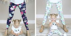As if mommy and me pencil skirts weren't cute enough, they now have mommy and me matching leggings!! Only $17.99!