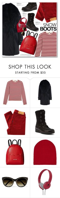 """SNOW BOOTS"" by nanawidia ❤ liked on Polyvore featuring Sonia Rykiel, Barbara Bui, Levi's Made & Crafted, Finn Comfort, Love Moschino, Denis Colomb, Chloé and Skullcandy"