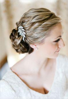 Low Twisted Bun - Bridal Updo