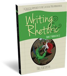 grades 4-5+ Writing and Rhetoric Book 3: Narrative II exposes students to new genres of story, including historical narrative and legend. It includes a variety of culturally important examples. All of the skills practiced in Narrative I are extended and new skill sets are introduced, including identifying the difference between fact and opinion and learning to ask the five Ws of a historical narrative: who, what, when, where, why.