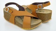 117.3.0194 GENUINS Niza wygodne sandały na koturnie, stopy średniej szerokości, tęgość G marki Genuins
