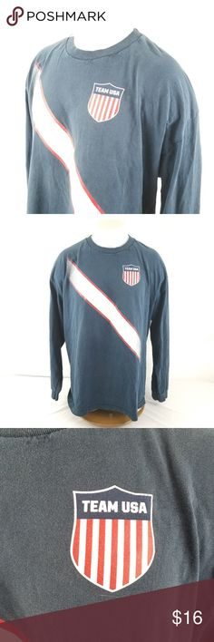 """Olympic Apparel Team USA Long Sleeve T-Shirt 2XL Gently used condition, see pictures. Measurements taken flat.  Pit to Pit:24"""" Sleeve Length:24"""" Top of Collar to Hem:29""""  A05-06 Team Apparel Shirts Tees - Long Sleeve"""
