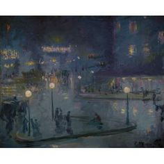 "americanart: ""Place de Rome at Night, 1905 Theodore Earl Butler (US, 1861 - "" Nocturne, Rome At Night, Art Nouveau, Science Gallery, Collections Photography, Cityscape Art, Old Paintings, Impressionism Art, Traditional Art"