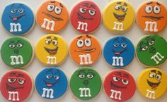 m character cookies <3